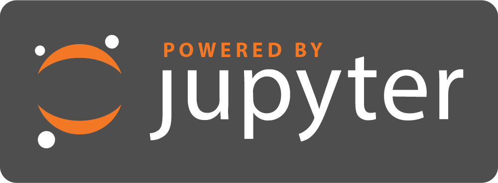 Powered by jupyter logo
